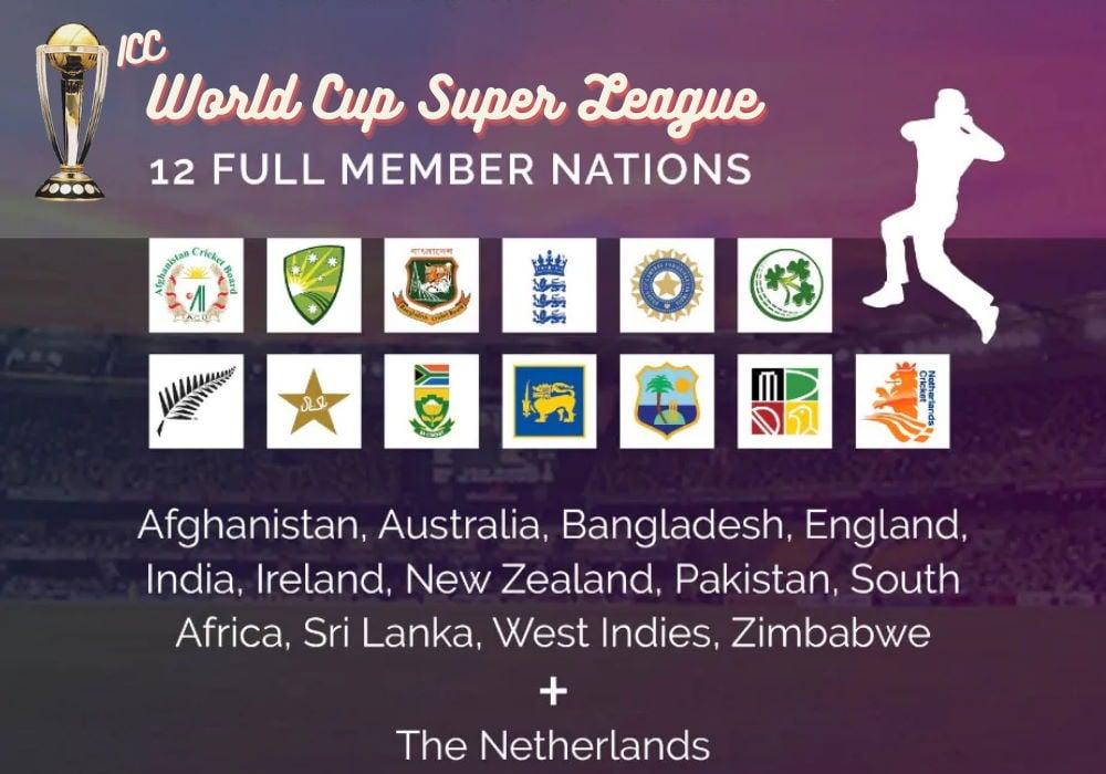 ICC World Cup Super League 2020-22 Schedule & Fixtures
